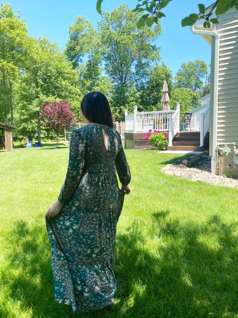 Smocked Babydoll Maxi Dress