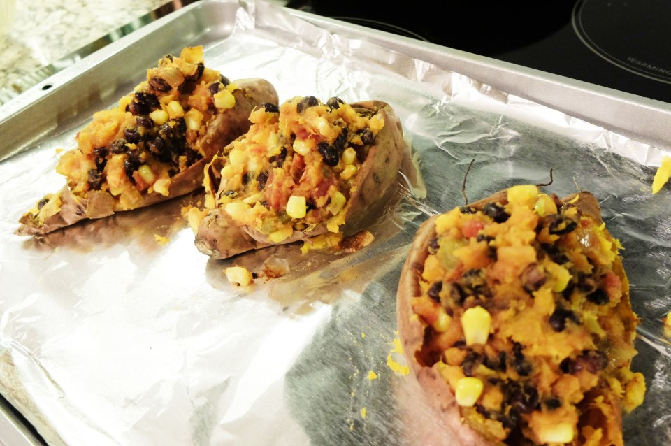 Southwest Stuffed Sweet Potato 8