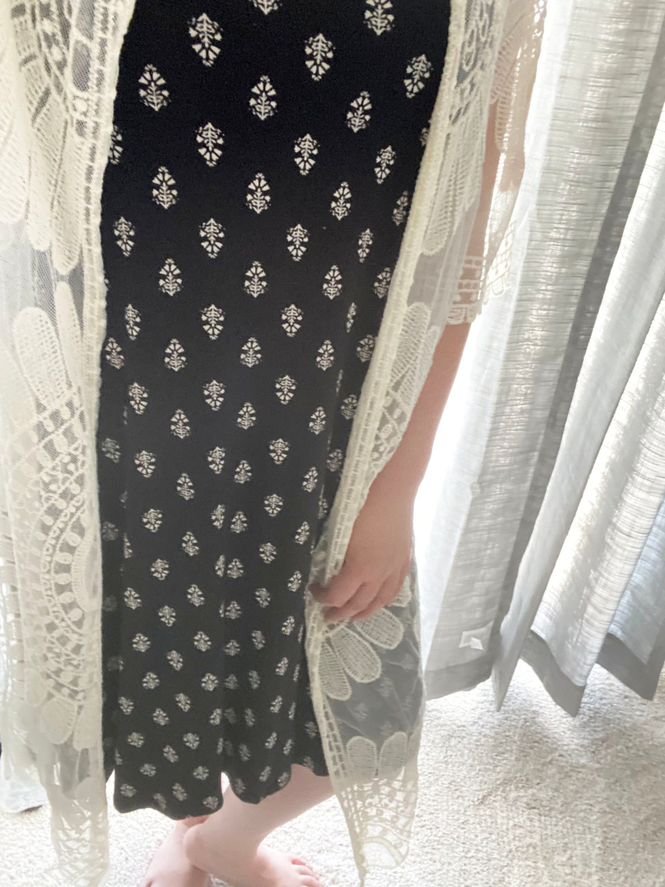 Swing Dress + Lace Kimono 13