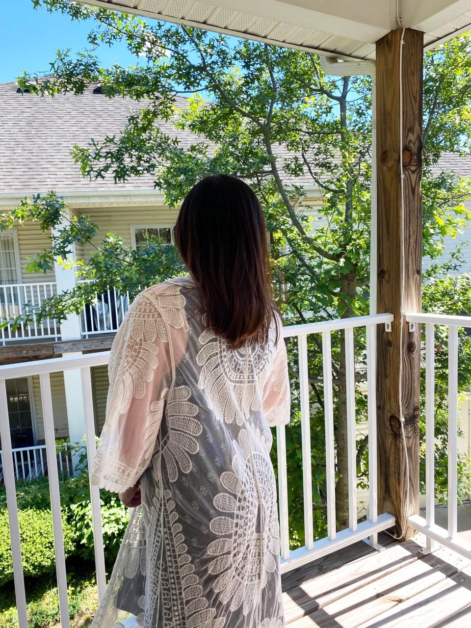 Swing Dress + Lace Kimono 9
