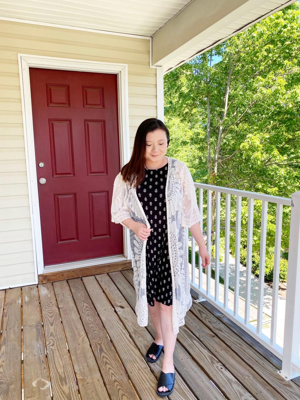 Swing Dress + Lace Kimono