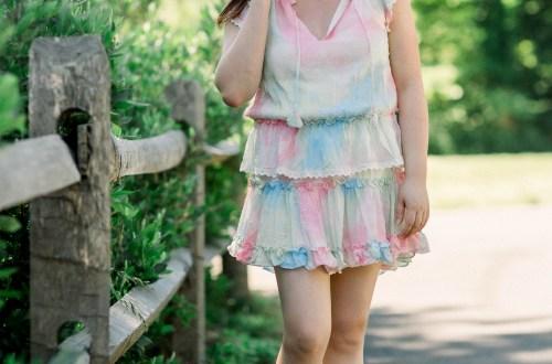 Tie Dye Tiered Ruffle Dress