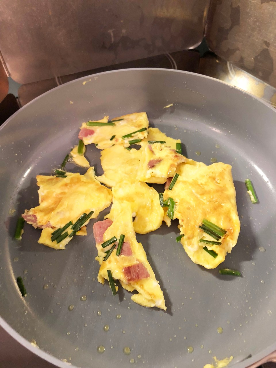 Ham & Chive Omelet 7