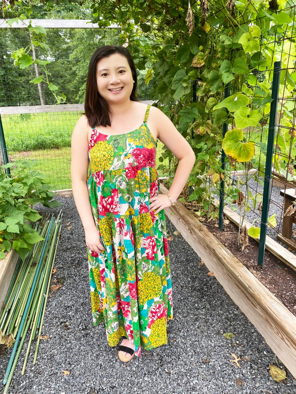 Floral Swing Maxi Dress 11