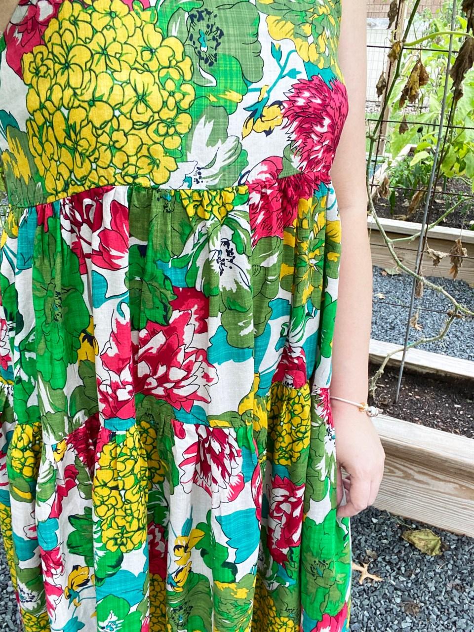 Floral Swing Maxi Dress 13