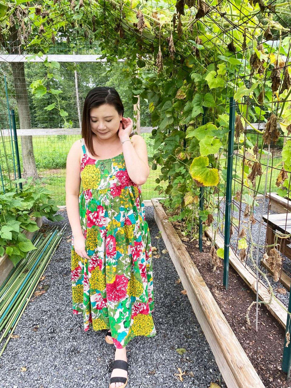 Floral Swing Maxi Dress 7