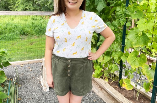 Leopard Tee + Olive Shorts