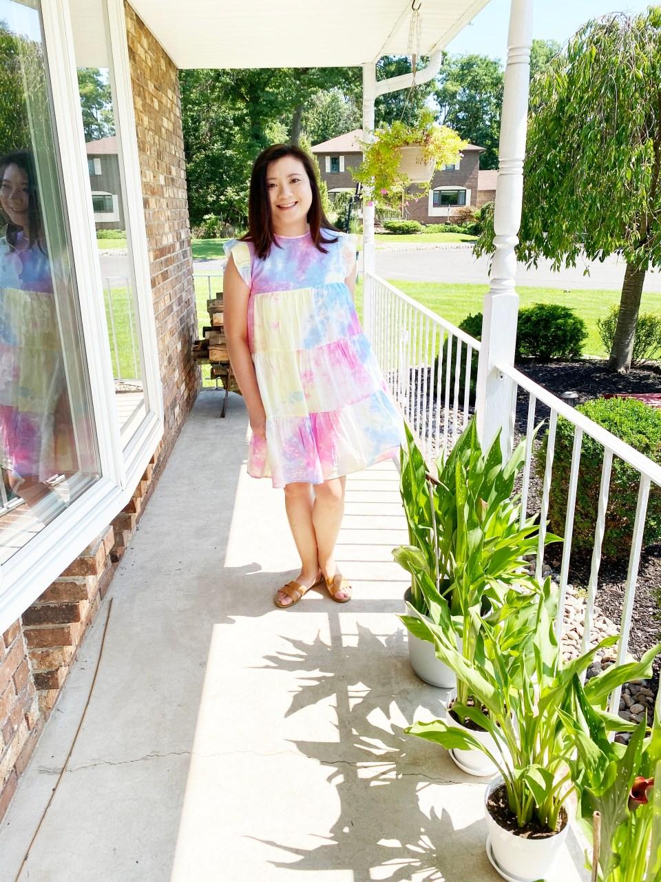 Tie Dye Babydoll Dress 5