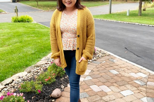 Orange-Floral-Peplum-Mustard-Cardigan