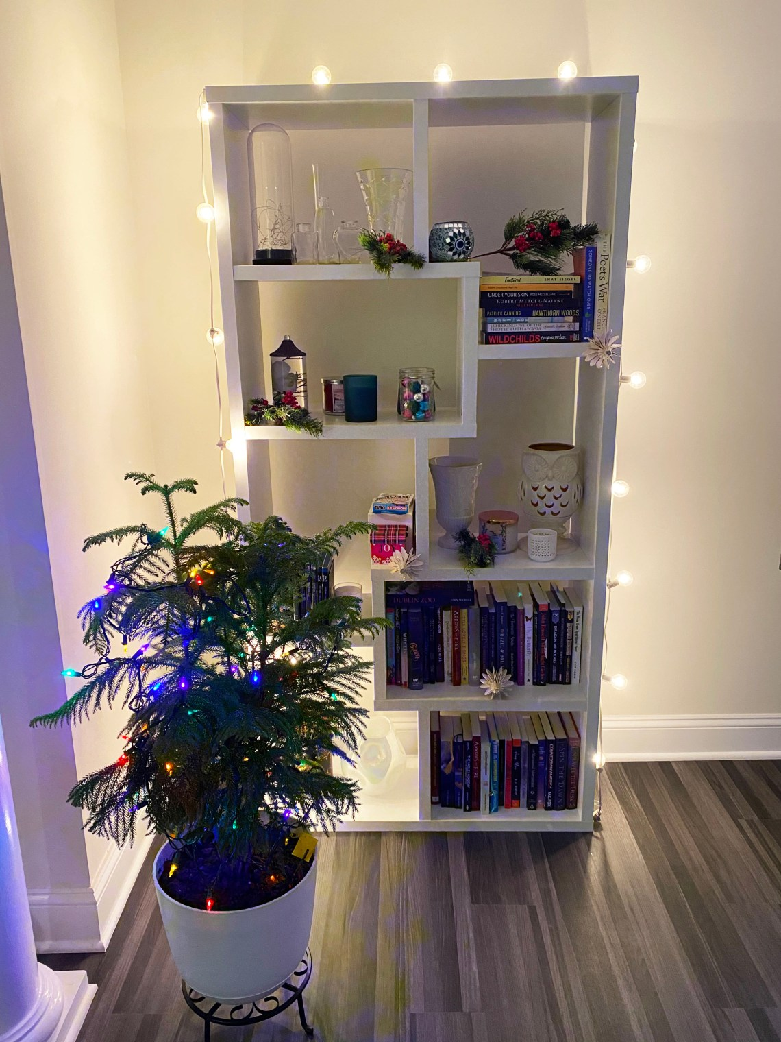 Bookcase-Christmas-Decor