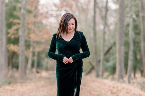 Green Velvet Gown