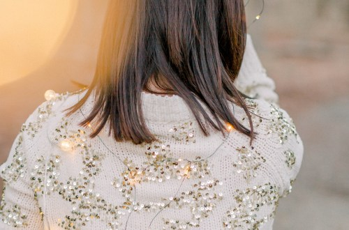 Sequin Sweater + Twinkle Lights