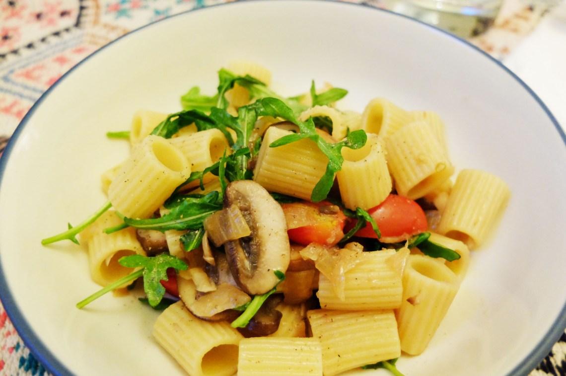 Arugula-Mushroom-Pasta