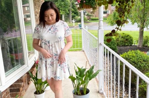 Short-Sleeve-Floral-Dress