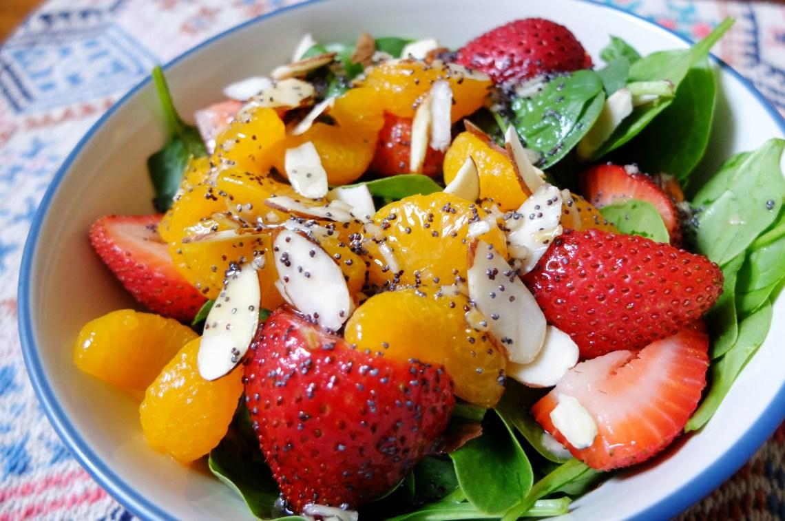 Strawberry-Mandarin-Orange-Spinach-Salad
