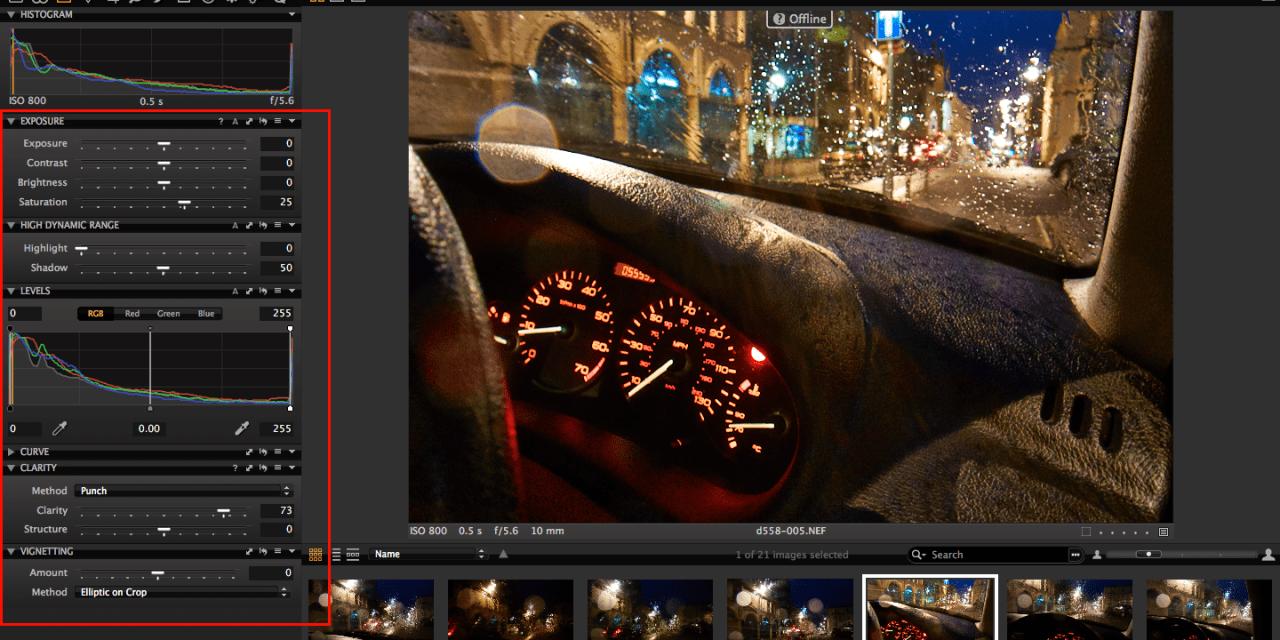 Capture One Pro 7's offline mode springs a surprise