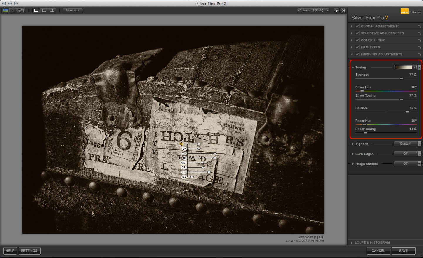 Silver Efex Pro Structure tool