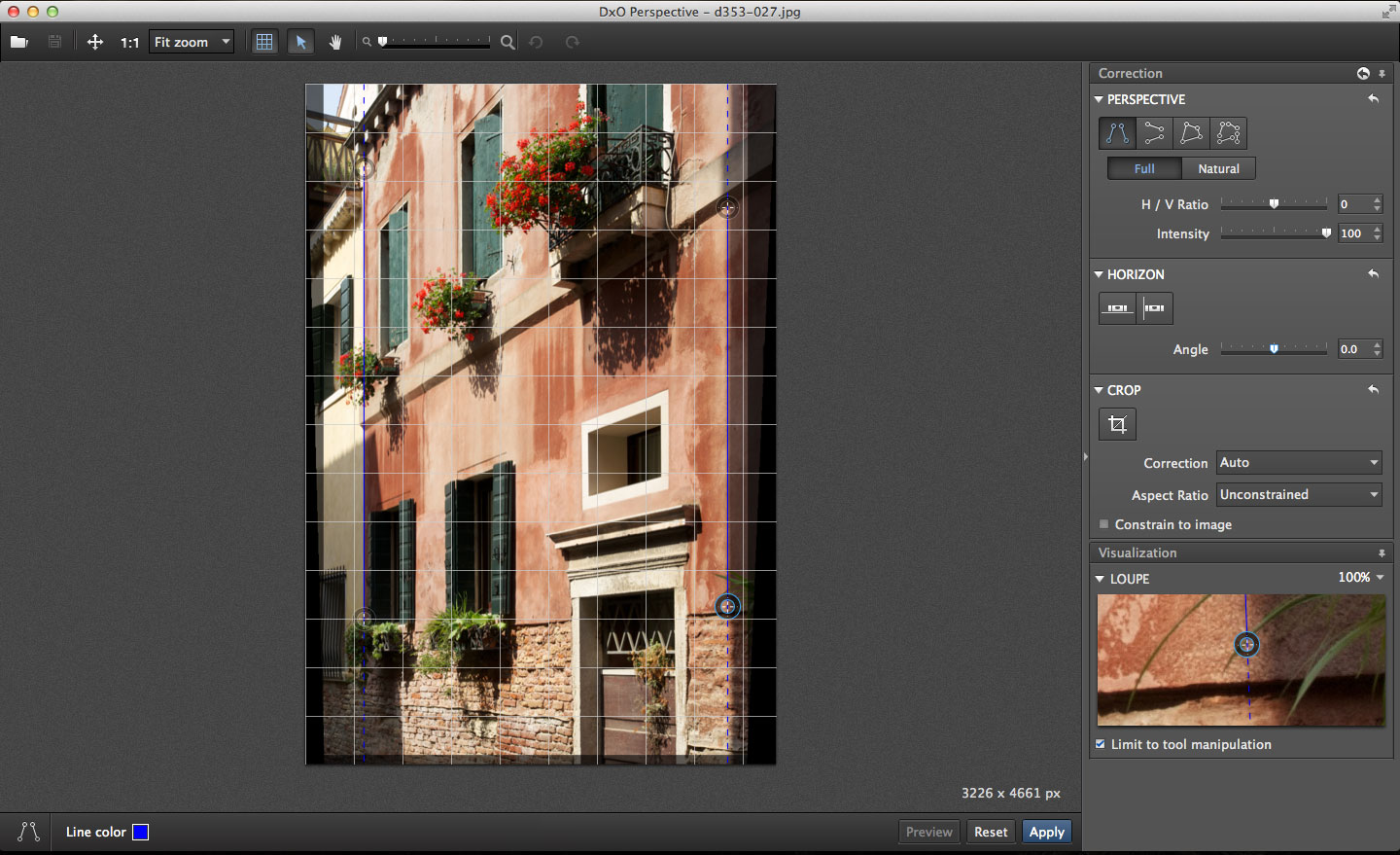 DxO Perspective for Mac