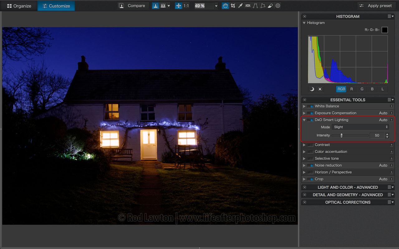 DxO Smart Lighting v9 vs v7