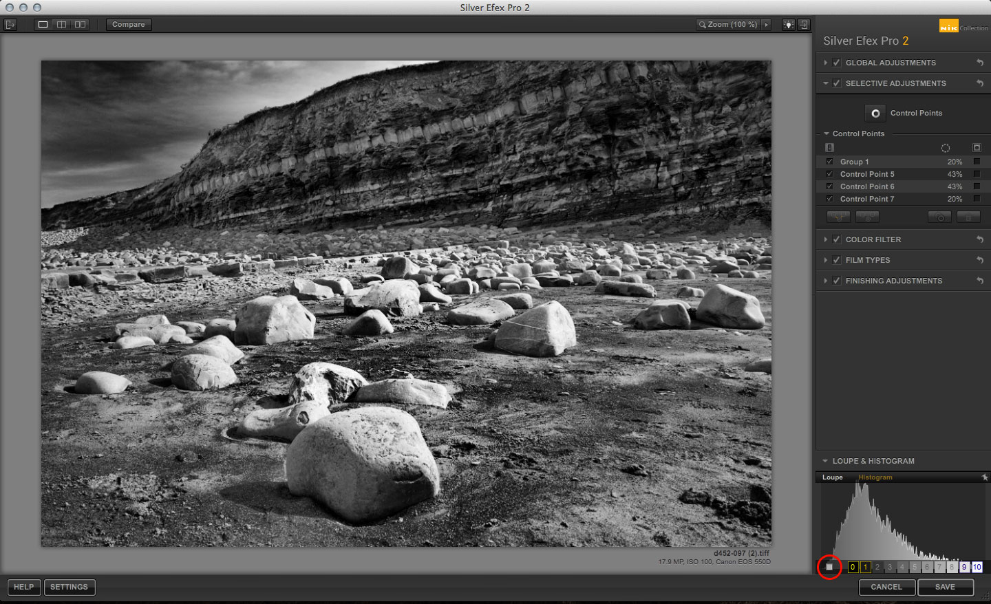 Silver Efex Pro Zone System