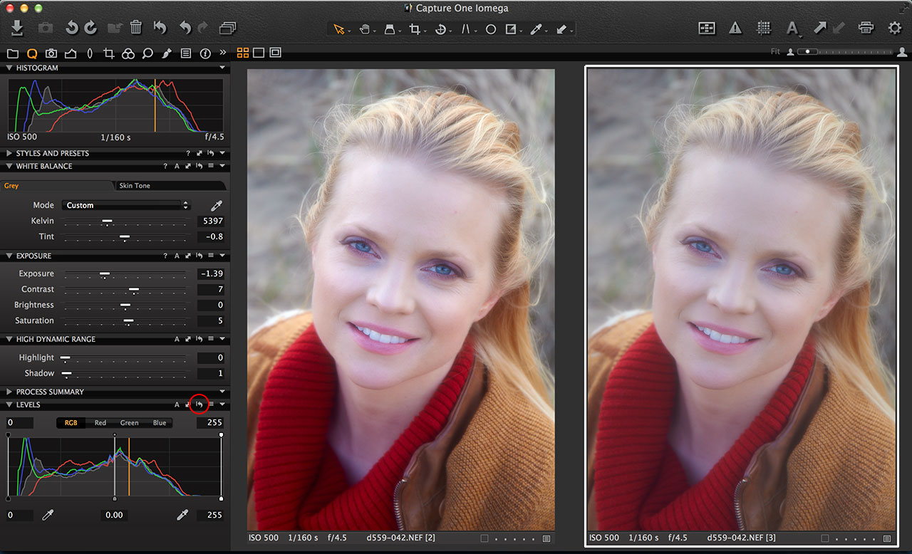 Capture One Auto Adjust
