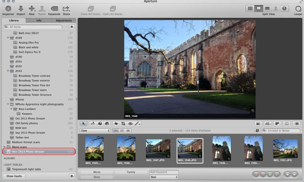 A quick guide to photo stream setup for iOS and Aperture