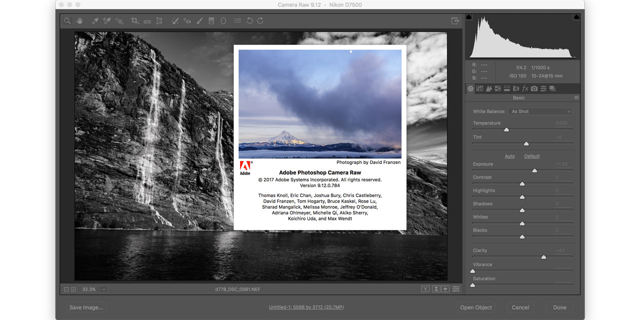 Adobe Camera Raw 9.12 and Lightroom CC 2015.12 update