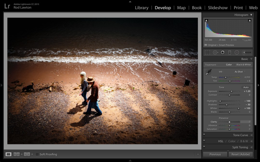 Relight an image with the Lightroom Radial Filter