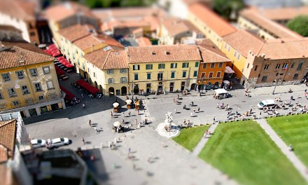 Create a tiny scene with this miniature effect