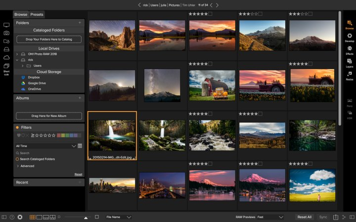ON1 Photo RAW 2018 Browse