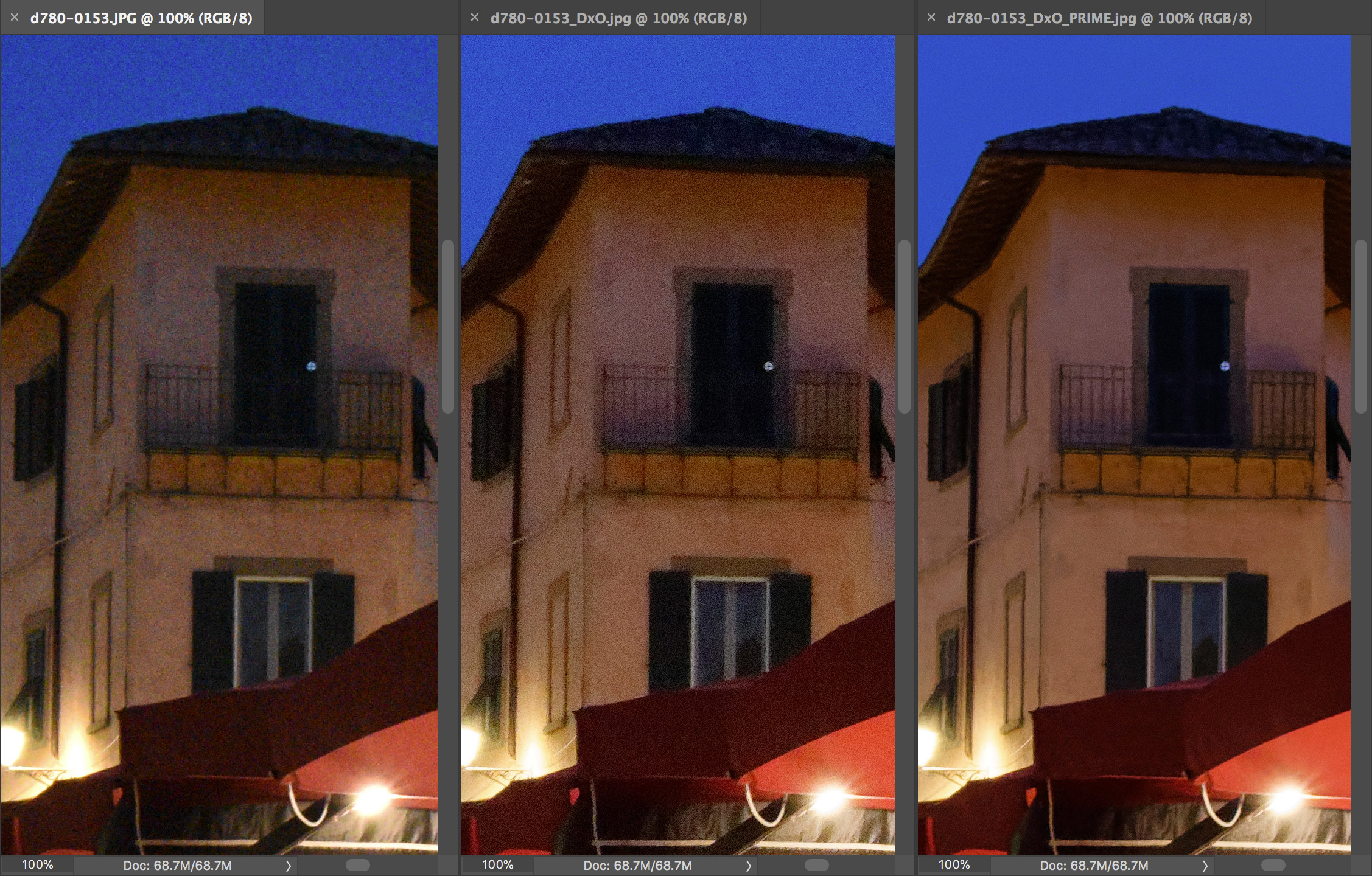 High ISO noise reduction