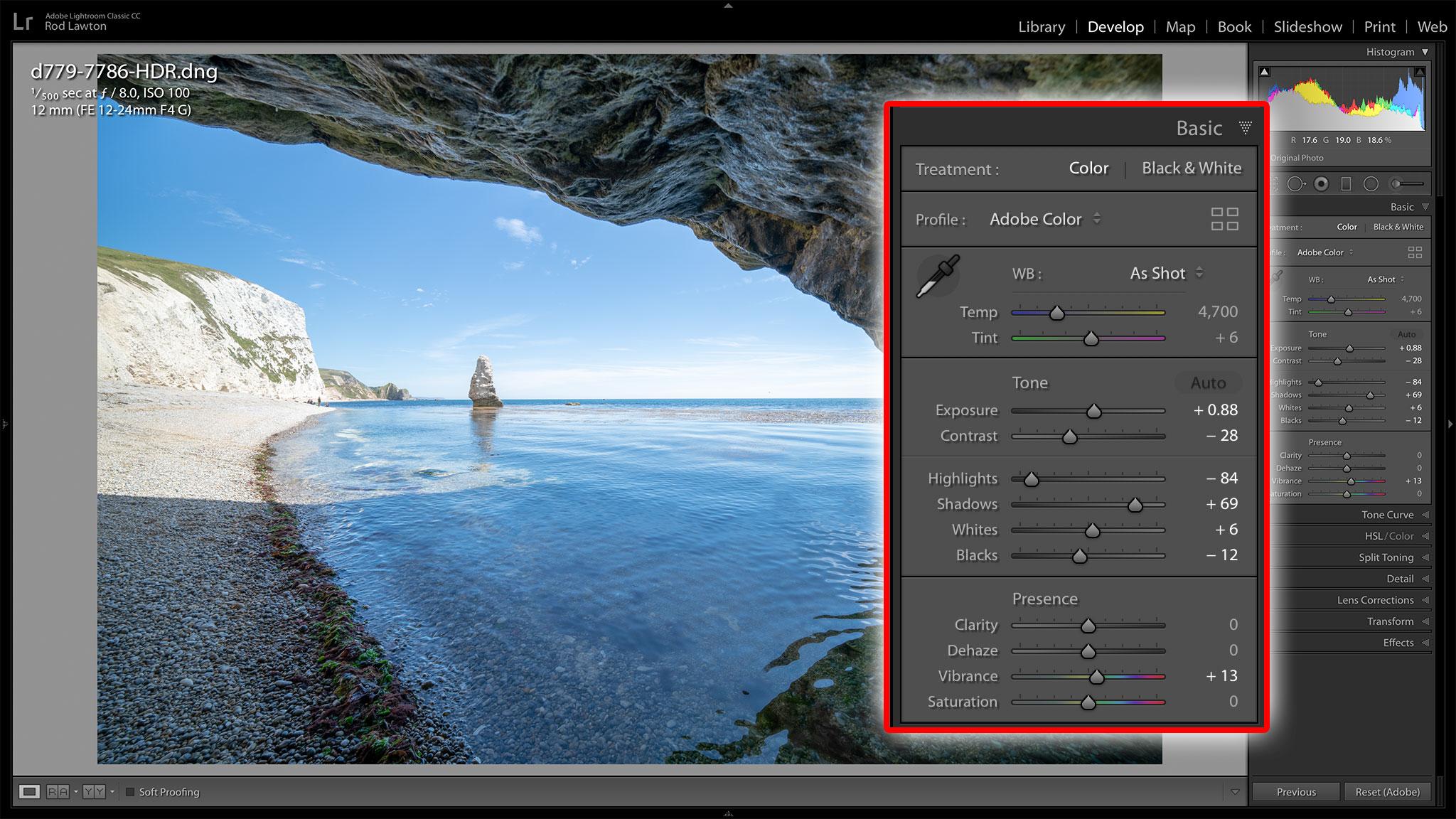 Lightroom HDR merge