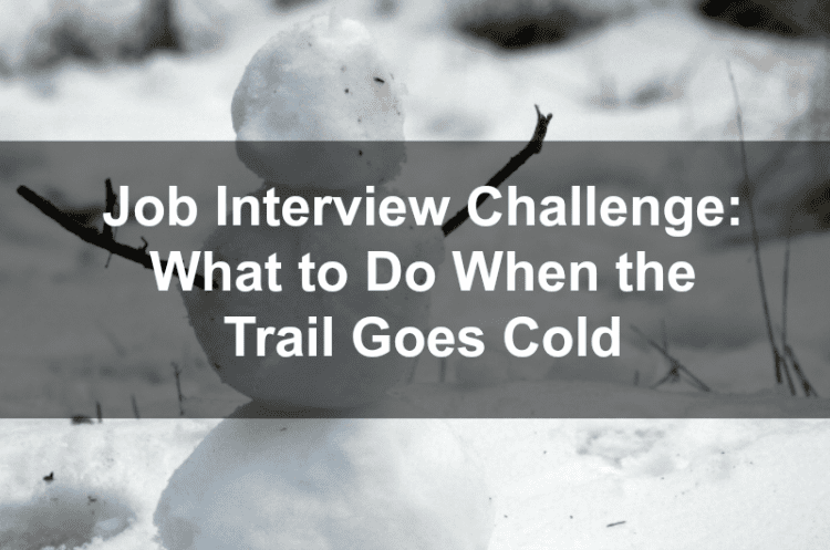 Job Interview Challenge: What to Do When the Trail Goes Cold