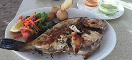 Fish dinner in Famara
