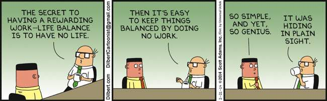 Dilbert helping explain Goodhart's law