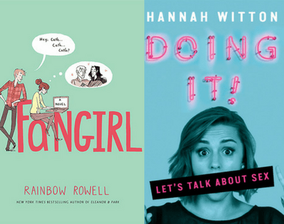 Covers of Fangirl by Rainbow Rowell and Doing it by Hannah Witton as part of my July Wrap Up