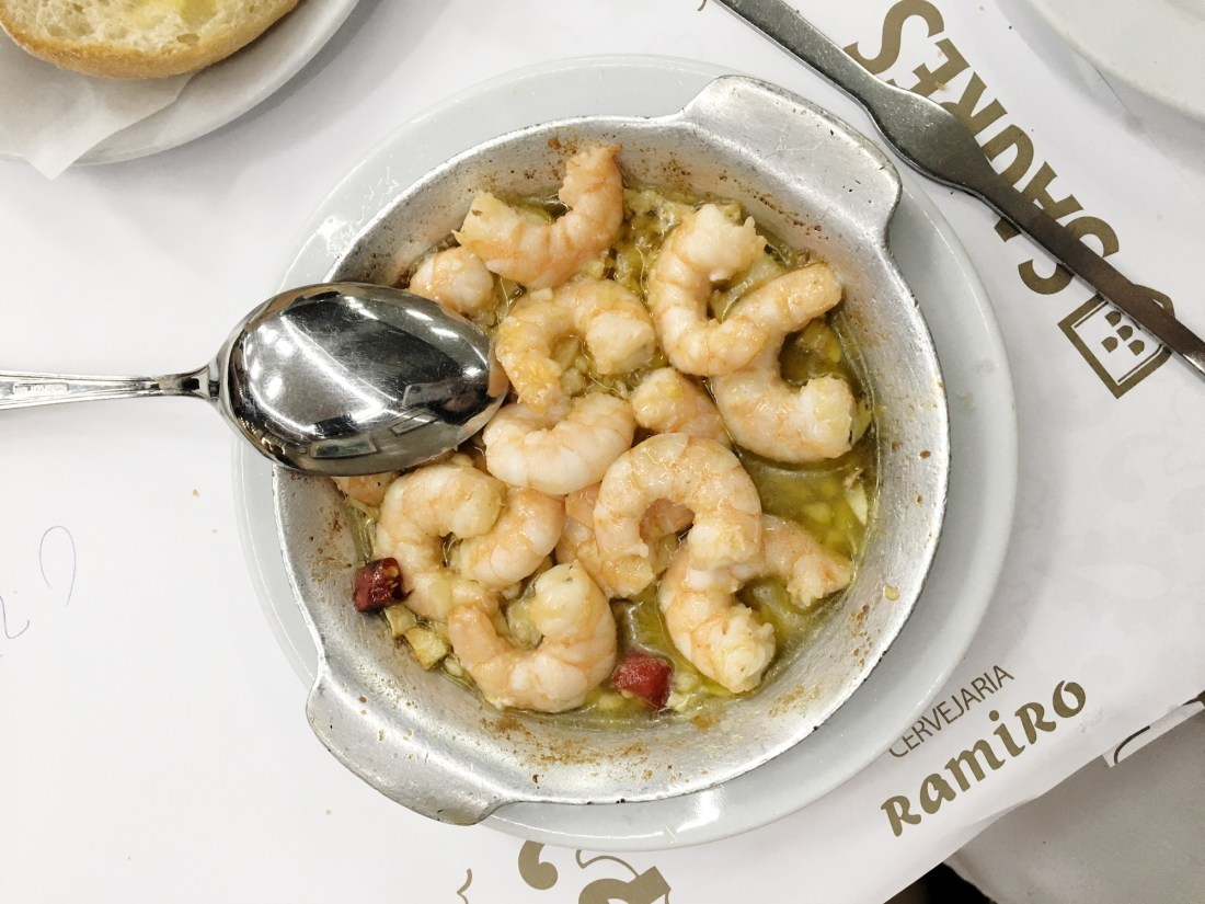 Delicious shrimp with garlic! This is a staple order for anyone coming here. Cervejaria Ramiro is a legendary spot in the heart of Lisbon familiar to locals and visitors. For seafood diehand, this is place is heaven!