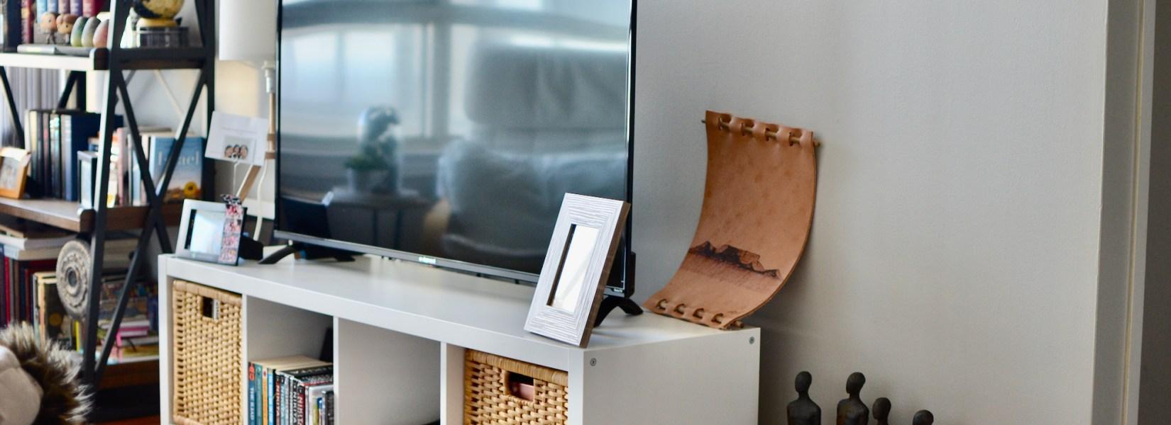 Life Lately #25: IKEA Kallax TV Table Hack for $20.