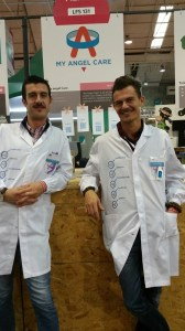Some of the My Angel Care team at The Web Summit in Dublin, Riccardo Zanini and Paulo Marazzi