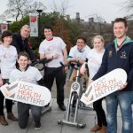 University College Cork (UCC) has passed its final check-up with flying colours on the road to being declared a 'Health Promoting University', with HSE South confirming the accolade this week. A ceremony is to take place on Wednesday 25 February at 3pm to mark the culmination of several years of work, at which the HSE South will present UCC with a flag representing the University's continued commitment to health promotion. The recognition formally acknowledges that health has been meaningfully integrated into the culture, processes and policies of UCC. Senior HSE South officials are to attend along with Cllr. Mary Shields, Lord Mayor of Cork, as well as student and staff members of UCC Health Matters, the Student Experience Office, the UCC Students' Union, the President of UCC and members of senior management amongst others. The entire UCC community has been involved in the journey, with the initiative first put in place in 2010. UCC President Dr Michael Murphy then signed an agreement with HSE South in December 2012 committing the University to officially becoming a health promoting setting as inspired by the World Health Organisation's Health Promoting University (HPU) framework. Photographed were: Emily Lynch, UC UCCHealth Matters Team, Dr. Michael Byrne, Head of Student Health Service, UCC/ Co-Cordinator UCCHealth Matters, Dave Carey, UCCHealth Matters Team, Michael Hanrahan, Clubs Health Promotion Officer, Dr. Dave Otway, UCC, Fiona O Donnell, UCCHealth Matters Team and Cian Power, UCC SU Welfare Officer, Co-Cordinator UCCHealth Matters. Photo by Tomas Tyner, UCC.