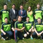 Setanta College Students pictured with Padraig Harrington and Minister Alan Kelly