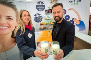 Dr. Mariane Walsh, Nutrition Manager, National Dairy Council with Brendan Courtney, Broadcaster and Designer.  Picture by Dylan Vaughan.