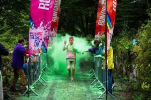 Over 1,000 participants took part in the Galway Run or Dye colourful 5km at Lough Cutra Castle