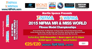 ‪‪NIFMA Mr & Miss W​orld Fitness Model Championships ​Dublin 28th November​