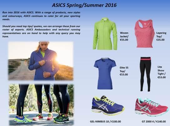 asics ladies spring summer 2016