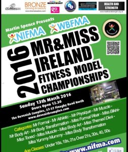 ​​6 Weeks to 2016 NIFMA Mr & Miss Ireland Fitness Model Championships​