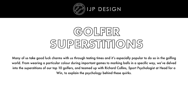 """Golfer Superstitions and provide """"the science"""" behind them"""