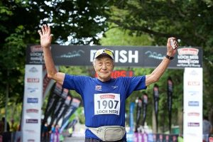 Koichi Kitabake (81) from Japan completed the Loch Ness Marathon in 2015.
