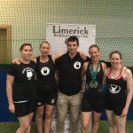 Linda Connors,Ella Stanton,Alan Kirwan,Sarah Smith (club coach) Caroline Sullivan
