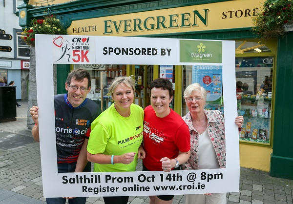 Pictured at the launch of this year's Croi Night Run on the Prom, photo shows  (L to R) Brendan Sheehan, Edwina Treacy and Annie Costelloe Croi and Aideen Hurley Evergreen (Sponsor).